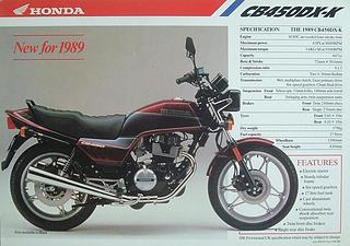 Honda CB 450DX 1989